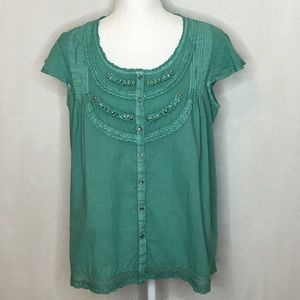 NWT Vintage America Boho Chic Top - Size Medium